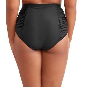 Terra & Sky Swim - Terra & Sky Women's Plus Black  Swimsuit Bottoms